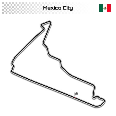Mexico City circuit for motorsport and autosport. Mexican grand prix race track.