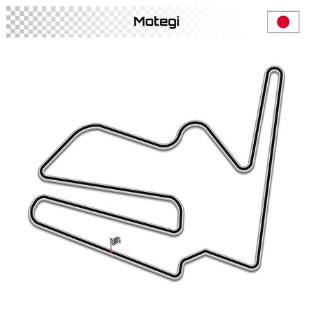 Motegi circuit for motorsport and autosport. Japanese grand prix race track.