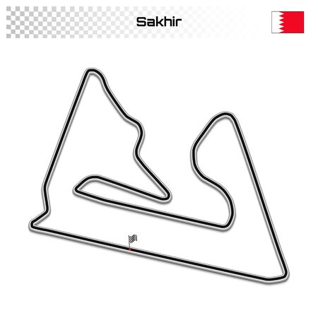 Sakhir circuit for motorsport and autosport. Bahrain grand prix race track.