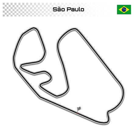 Sao Paulo circuit for motorsport and autosport. Brazilian grand prix race track.