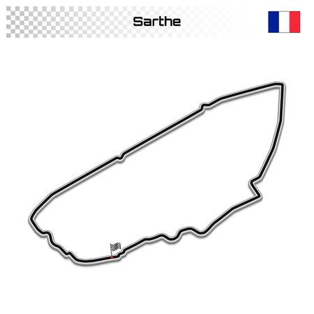 Sarthe circuit for motorsport and autosport. French grand prix race track.
