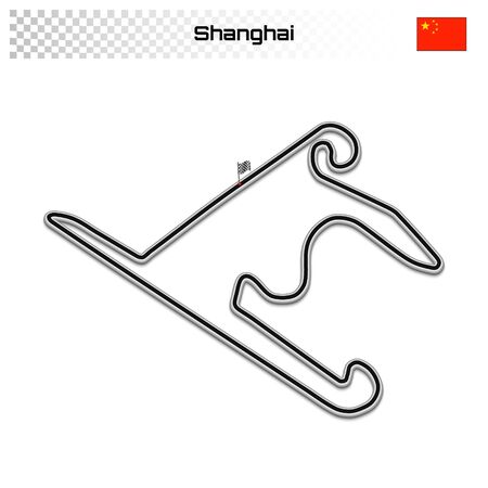Shanghai circuit for motorsport and autosport. Chinese grand prix race track.