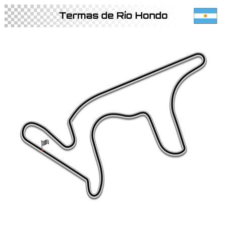 Termas de Rio Hondo circuit for motorsport and autosport. Argentine grand prix race track.