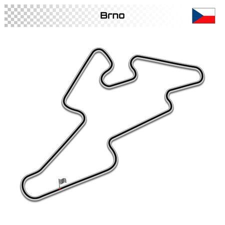 Brno circuit for motorsport and autosport. Czech Republic grand prix race track.