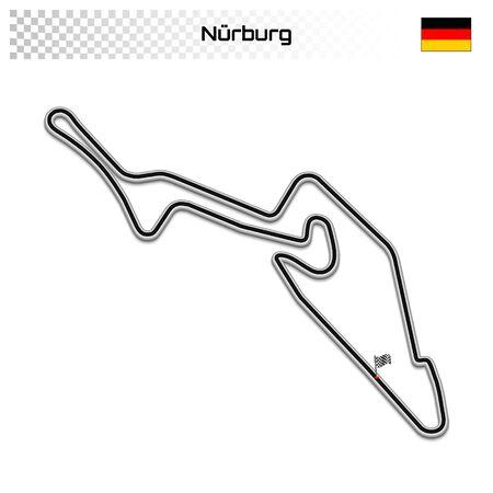 Nurburg circuit for motorsport and autosport. German grand prix race track.