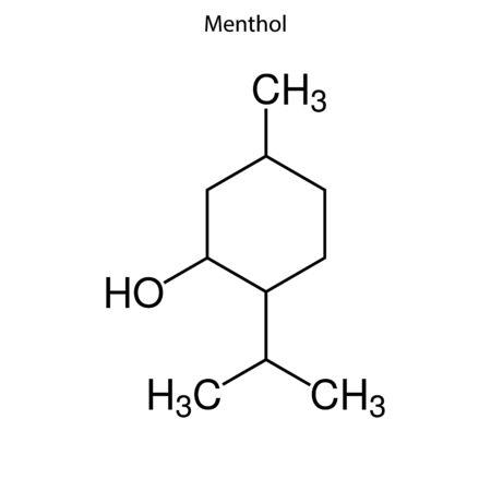 Skeletal formula of Menthol. Chemical molecule.