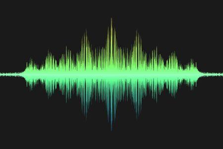 Sprachschallwelle, Schallwellensymbol. Vektor-Illustration