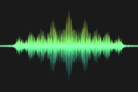 Stem soundwave, geluidsgolf icoon. vector illustratie