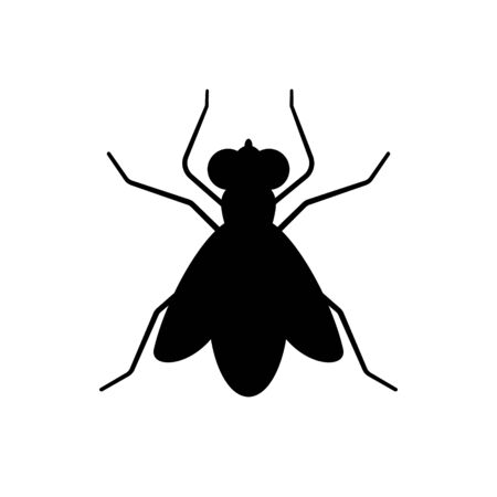fly sign icon isolated vector illustration