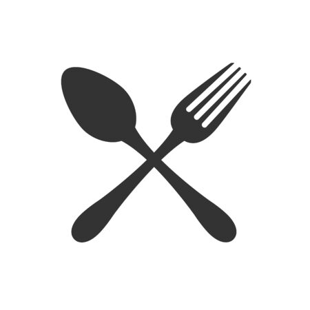 Fork and fork icon. Restaurant sign