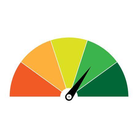 High risk meter, vector illustration