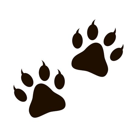 Paw Print vector illustration isolated 일러스트