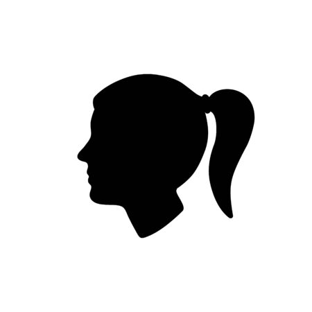 woman head silhouette isolated. Vector illustration.