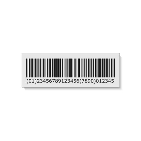 Barcode label. Bar Code stripes sticker