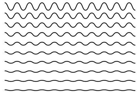 Modello vettoriale a zigzag della linea d'onda