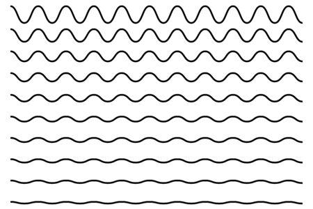 Wave line zigzag vector pattern