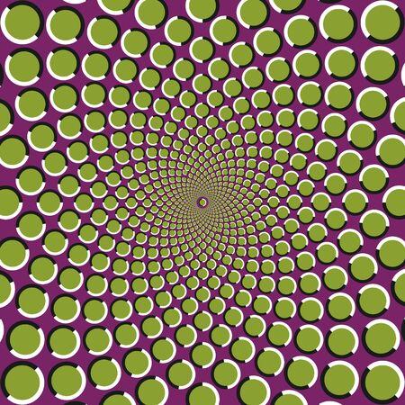 Anomalous rotation motion illusion pattern