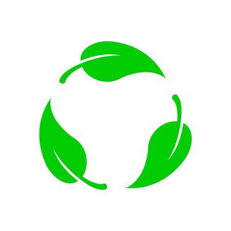 Icône vecteur biodégradable. Logo de l'étiquette bio recyclable dégradable