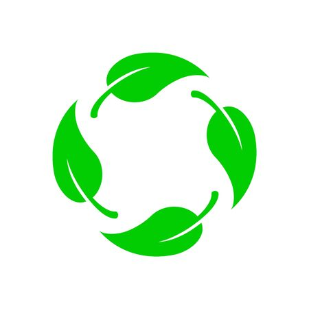 Biodegradable vector icon. Bio recyclable degradable label logo