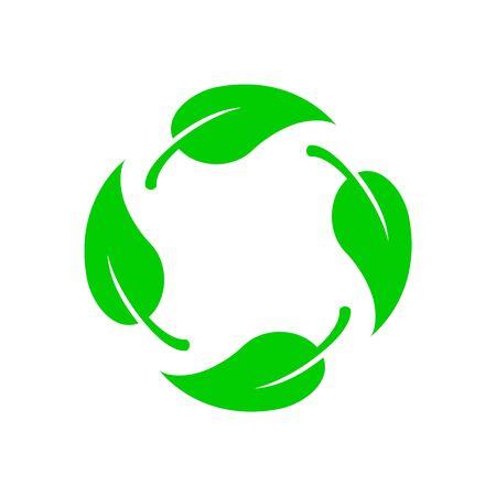 Icona di vettore biodegradabile. Logo etichetta bio riciclabile degradabile