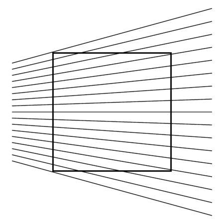 Ehrenstein geometric optical illusion. Vector illustration