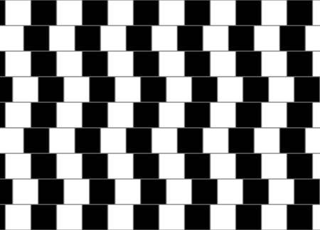 Cafe wall geometric optical illusion pattern. Vector illustration
