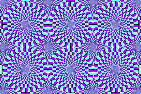 Anomalous rotation motion illusion pattern 일러스트