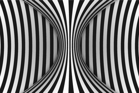 Black and white horizontal lines optical illusion