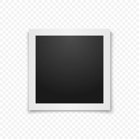 Marco de fotos de vector realista. Diseño de foto de plantilla. Vector Ilustración de vector