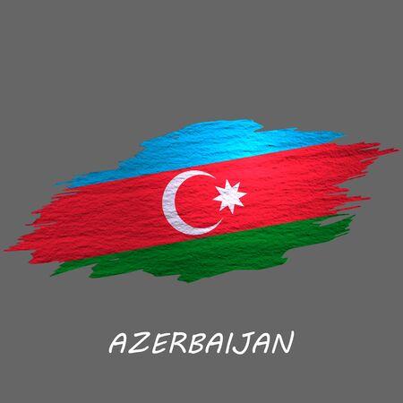 Grunge styled flag of Azerbaijan. Brush stroke background