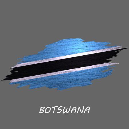Grunge styled flag of Botswana. Brush stroke background Ilustrace
