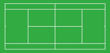 Tennis court . Top view with correct proportion
