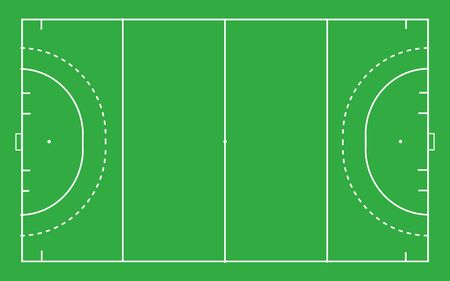 Hockey field . Top view with correct proportion