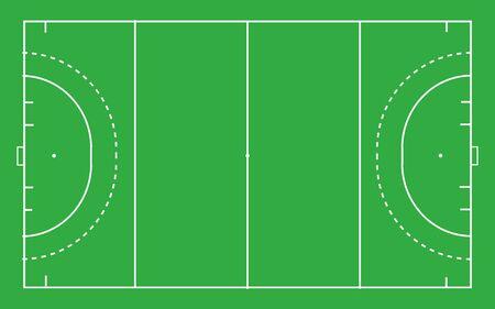 Terrain de hockey. Vue de dessus avec une proportion correcte