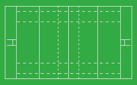 Rugby field . Top view with correct proportion 일러스트
