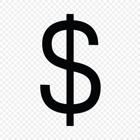 Dollar sign. Currency symbol icon 일러스트