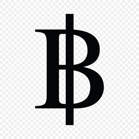 Thai bath sign . Currency symbol icon 일러스트