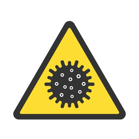 Coronavirus caution sign. Virus alert