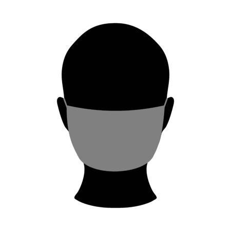 Medical mask on face icon. Stop virus sign 일러스트