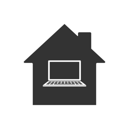 Remote work icon. Home office