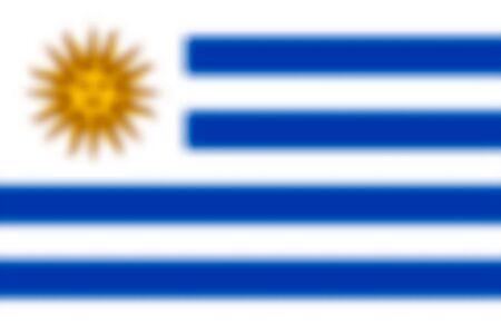 Blurred background with flag Uruguay. Vector illustration Illusztráció