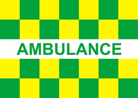 Battenburg ambulance marking. Emergency service pattern