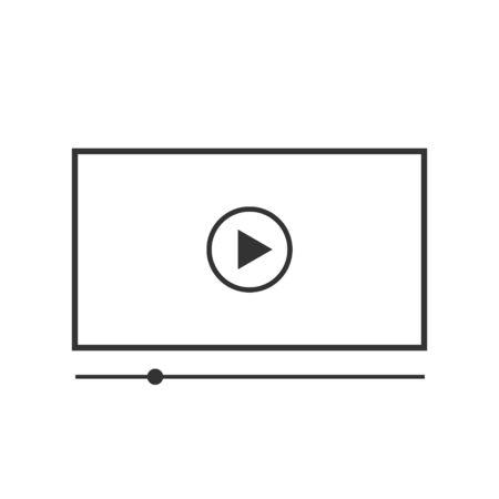 Video player vector icon on white background Ilustração