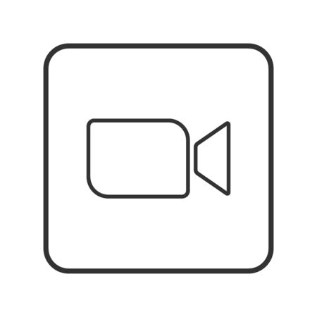 Video call icon, online chat button