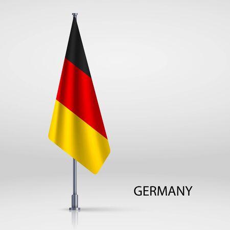 Germany hanging flag on flagpole Ilustracja