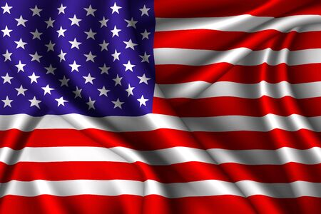 United States national flag of silk. Vector fabric texture Vector Illustratie