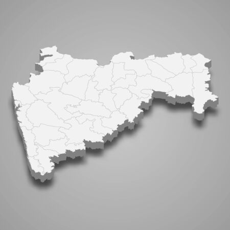 3d map of Maharashtra is a state of India