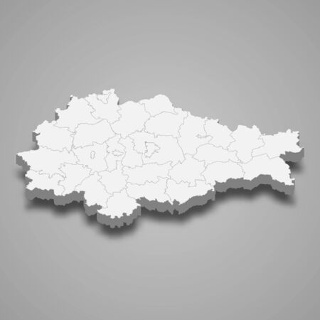 3d map of Kursk Oblast is a region of Russia
