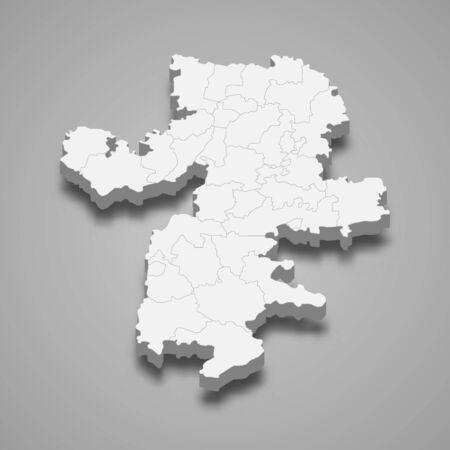 3d map of Chelyabinsk Oblast is a region of Russia