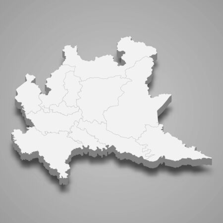 3d map of is a region of Italy